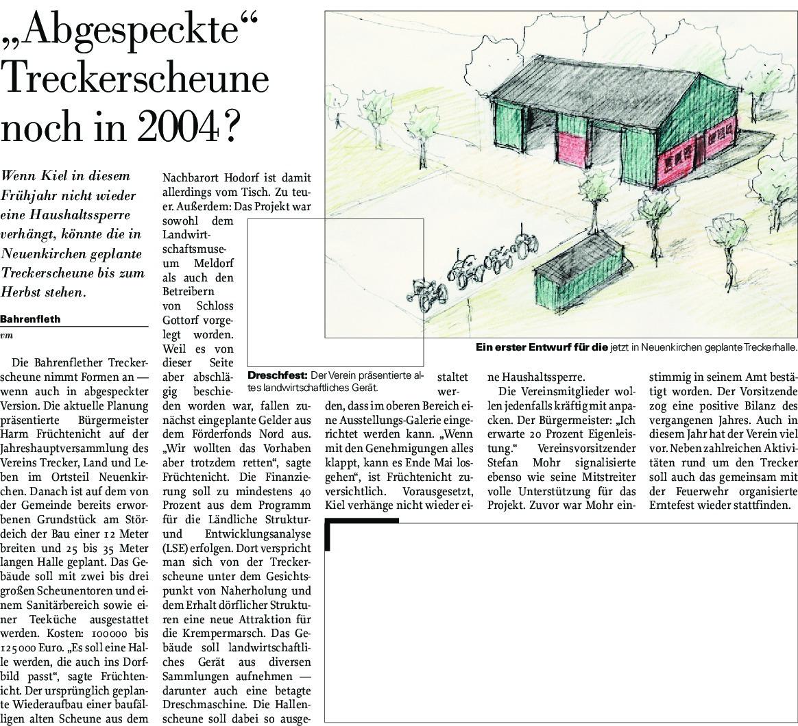 thumbnail of Bau Treckerscheune Bericht 1