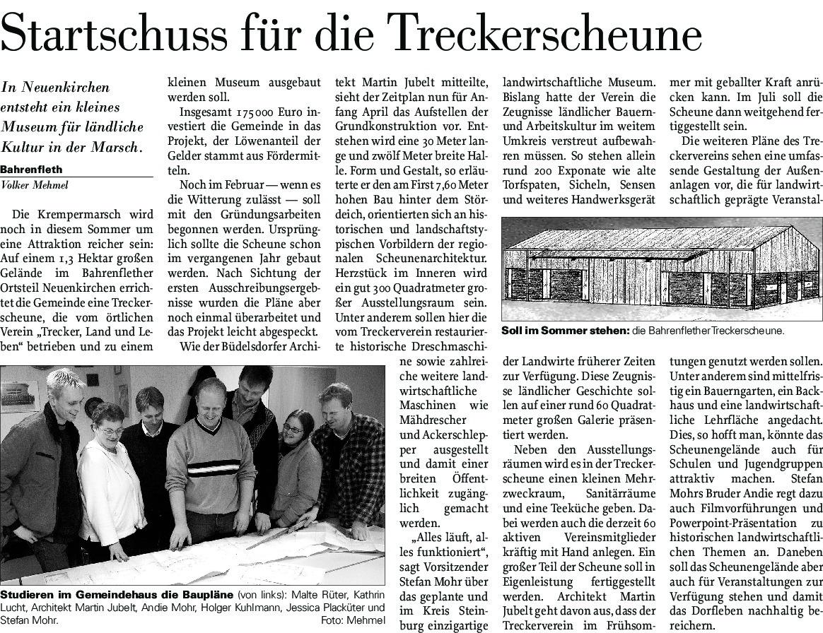 thumbnail of Bau Treckerscheune Bericht 3