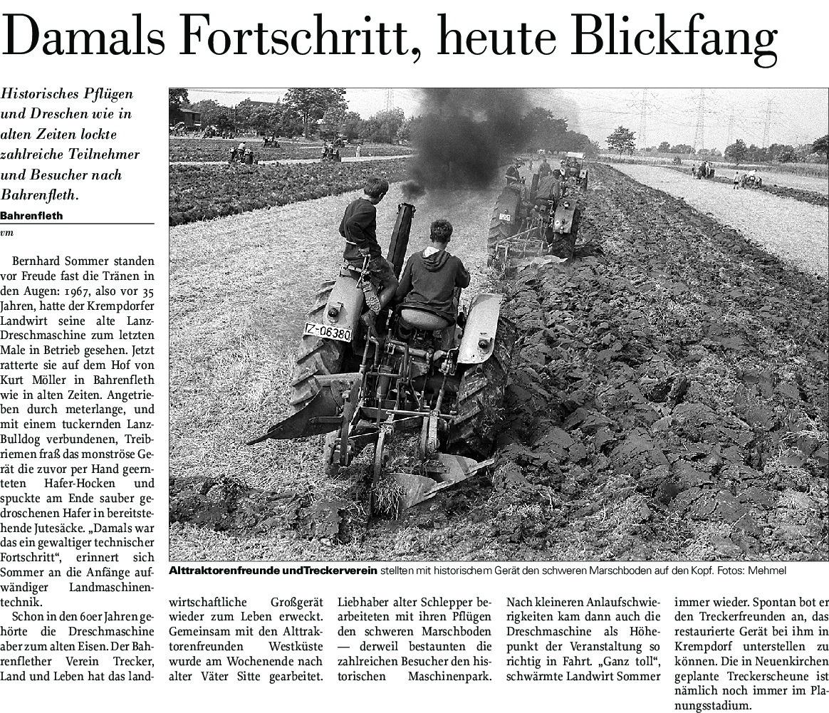 Genial Blickfang Alte Zeiten Sammlung Von Thumbnail Of Historisches Pflügen – Hof Möller