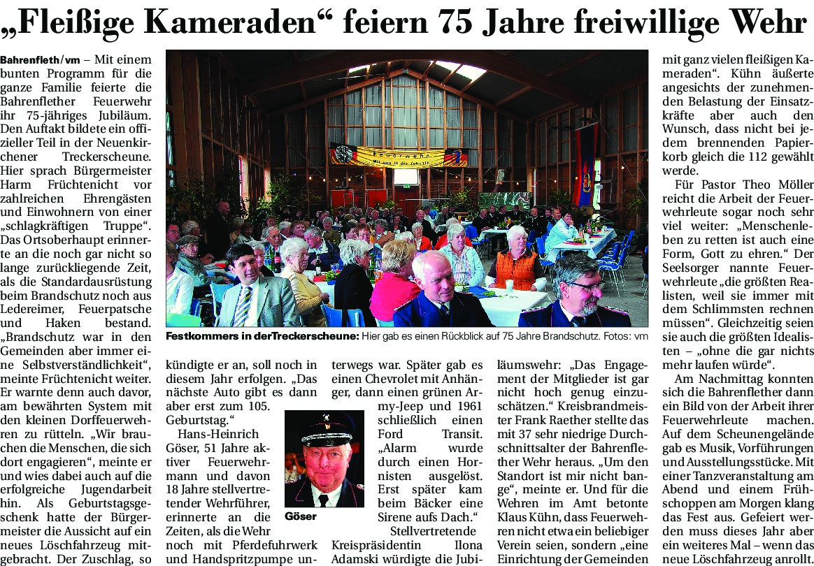 thumbnail of Jubiläum Feuerwehr Bahrenfleth