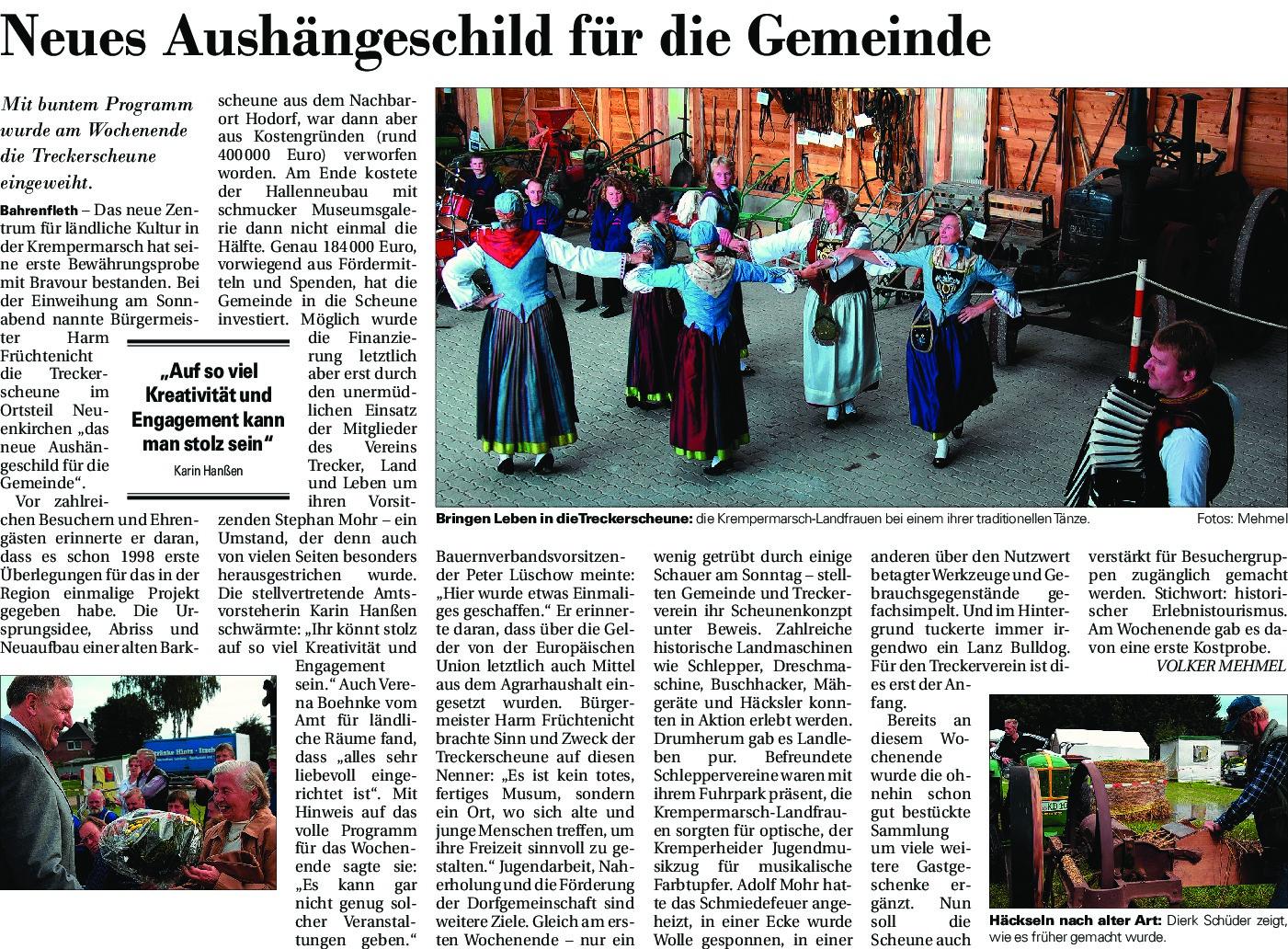 thumbnail of Nach Eröffnung Treckerscheune
