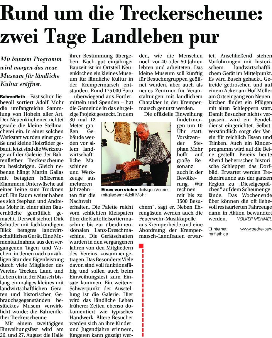thumbnail of Vor Eröffnung Treckerscheune