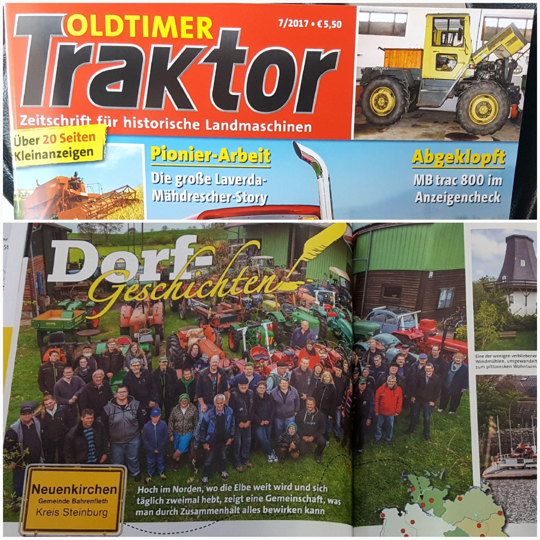 dorfgeschichte in der zeitschrift oldtimer traktor. Black Bedroom Furniture Sets. Home Design Ideas