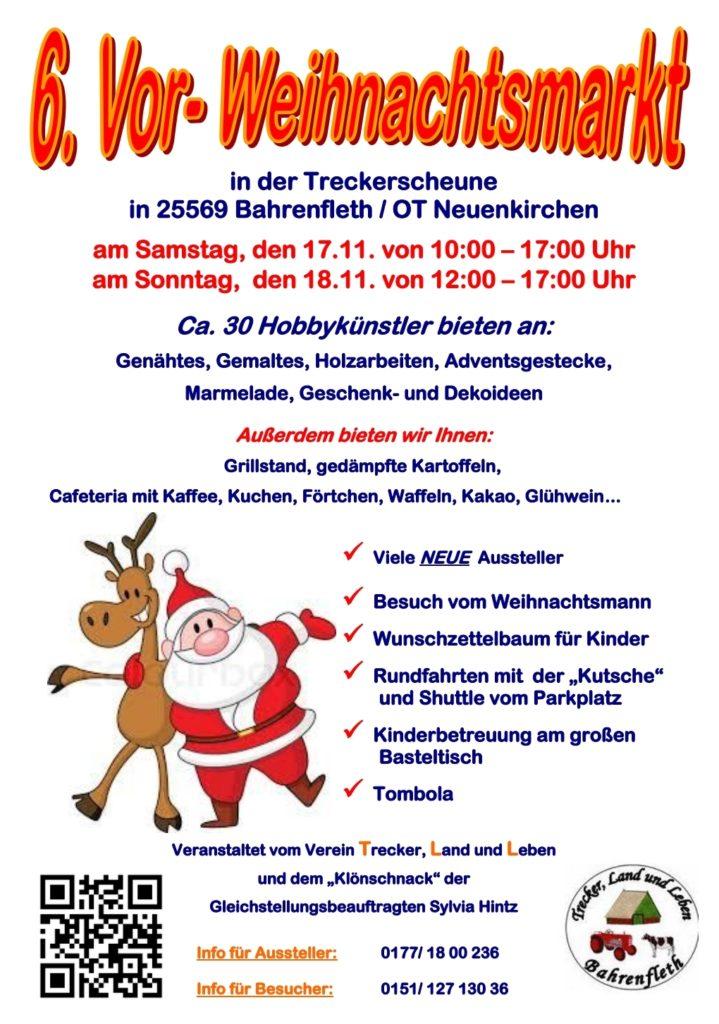 Flyer für unseren Weihnachtsmarkt